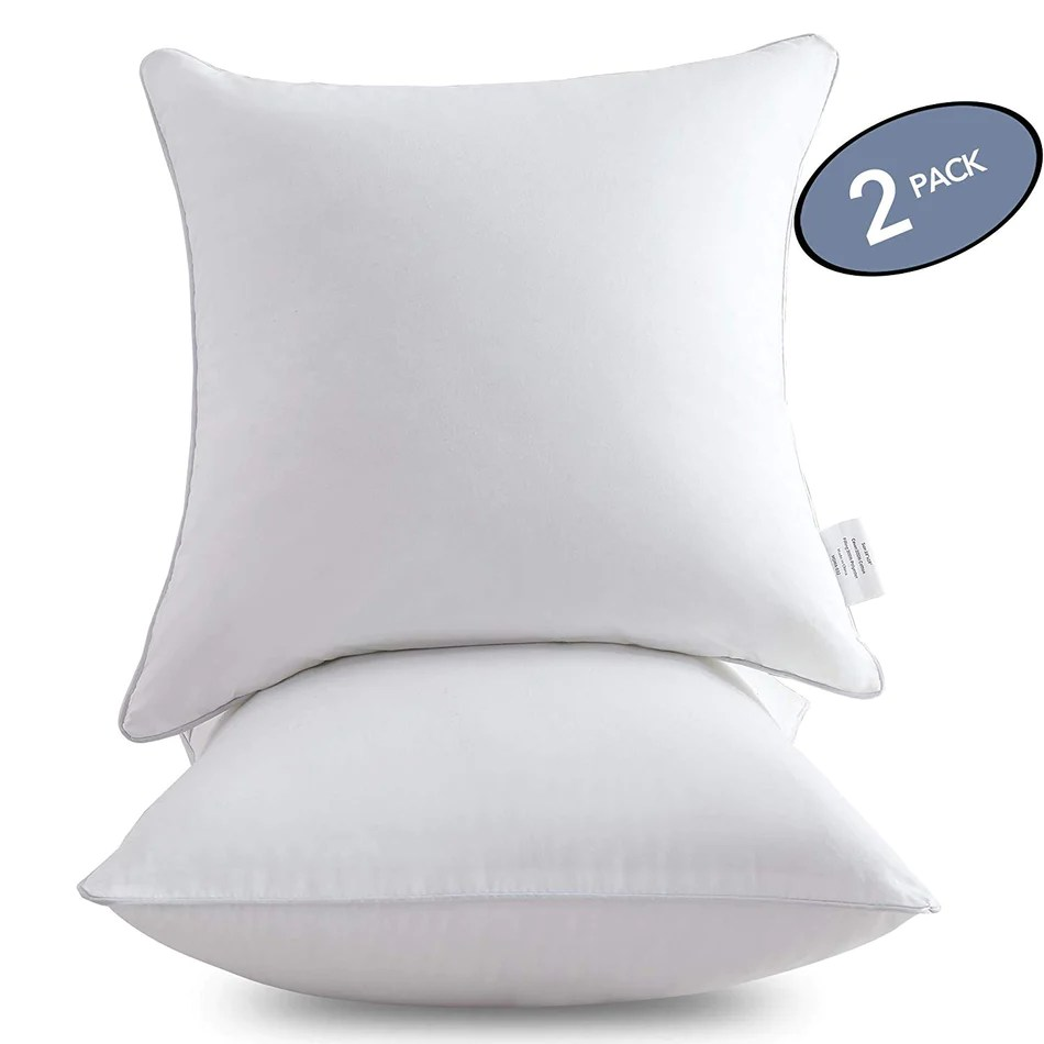 cotton cover throw pillow inserts