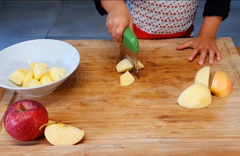 coupe legumes avec lame ondulee les