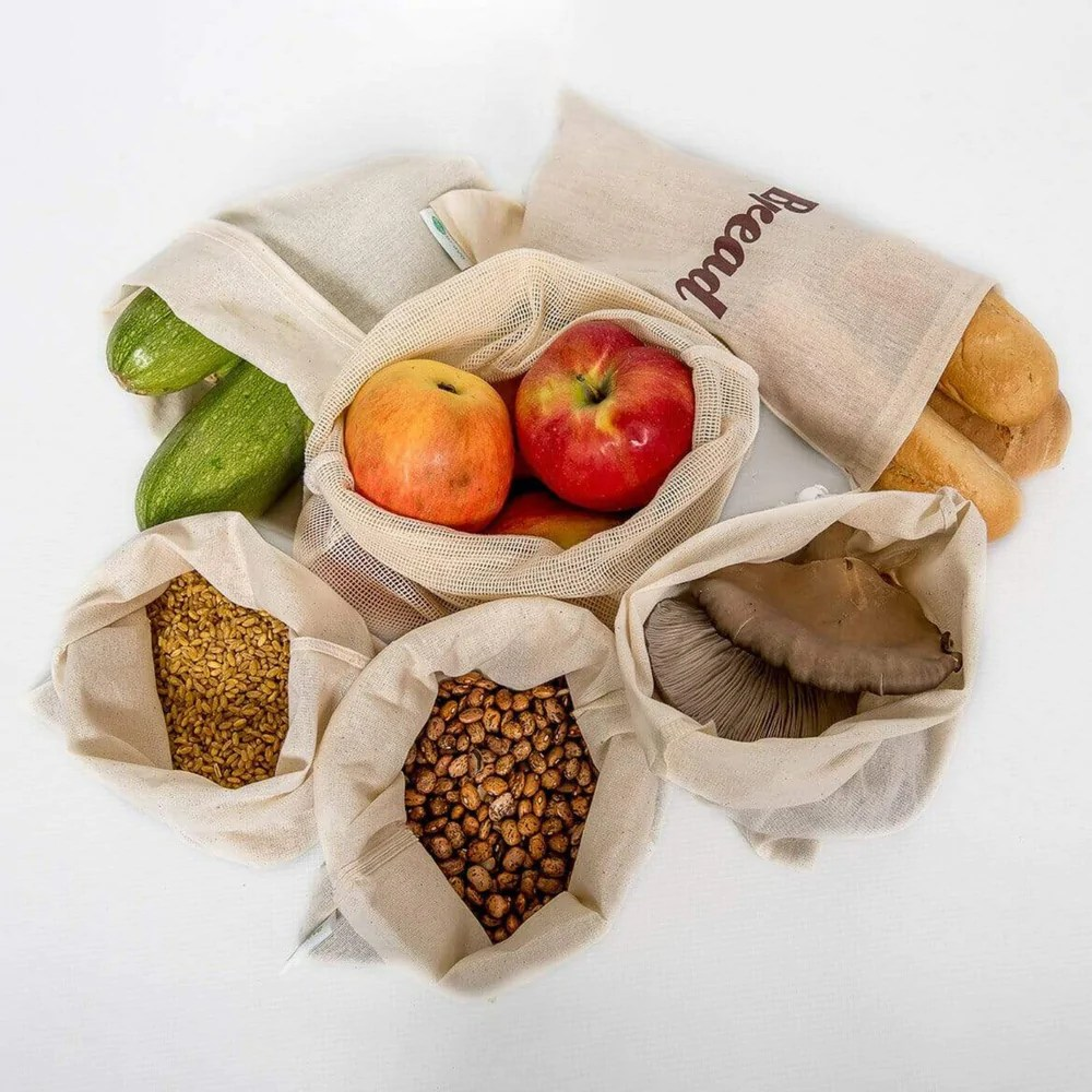 Set Of 6 Reusable Produce Bags Good For You And For The Planet Eco Bravo