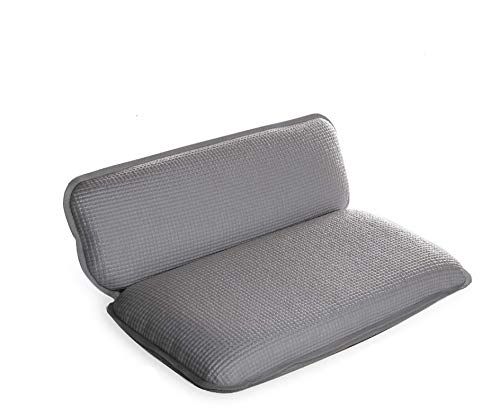bino non slip cushioned bath pillow with suction cups silver spa pi