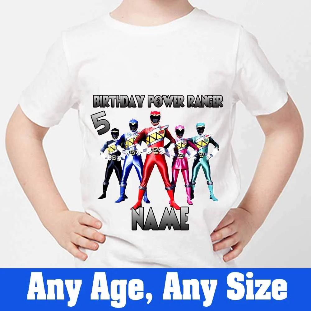 Sprinklecart The Power Rangers Inspired Birthday T Shirt Birthday Dres