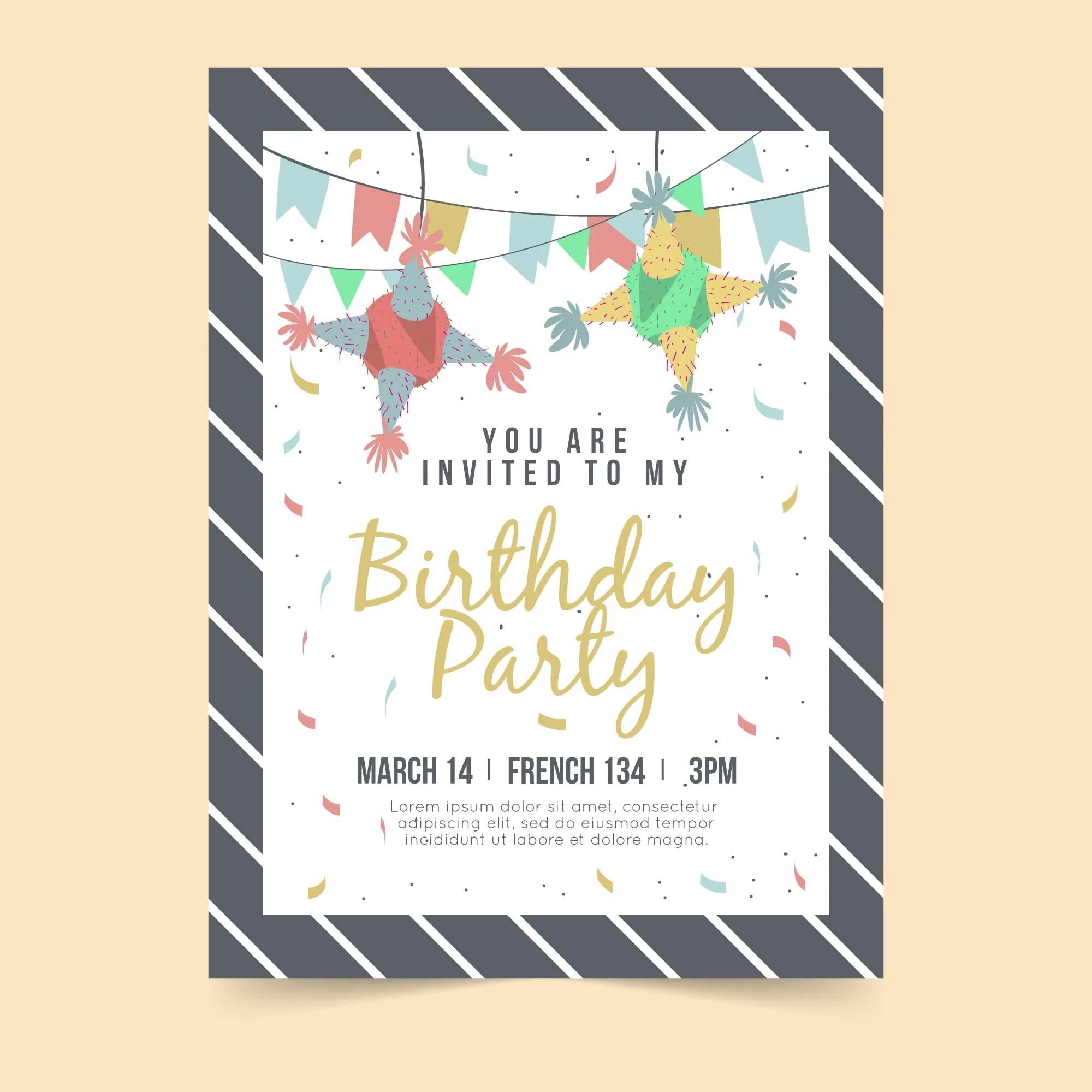 simple yet elegant birthday party invitation card set of 25 pcs