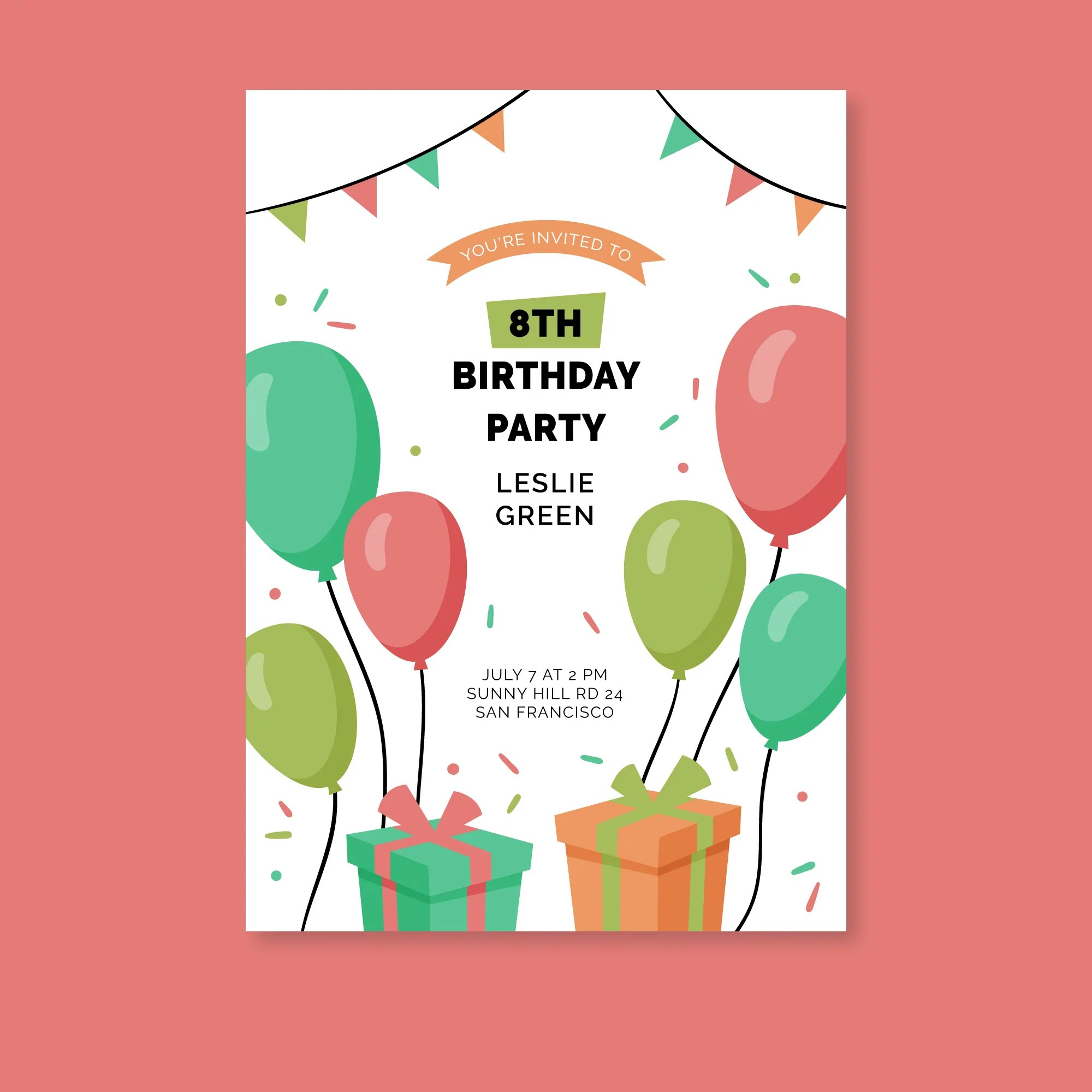you are invited simple design birthday invitation card set of 25 pcs