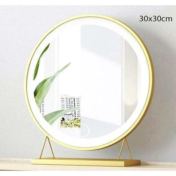 Miroir Rond Lumineux Maquillage 30x30cm Mon Beau Miroir