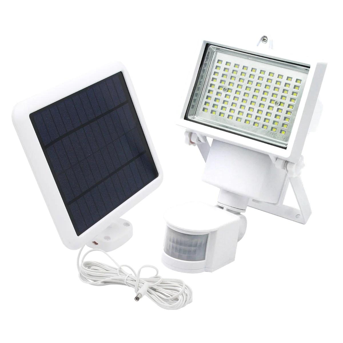 weisses solar flutlicht leistungsstarke weisse led fernsolarzellenbeleuchtung cooper white h22cm mit schwenkbarem bewegungsmelder