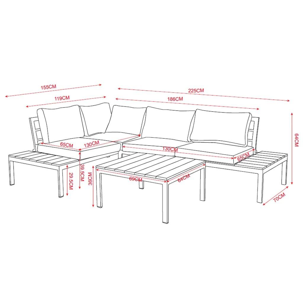 https reddeco com a l de products salon de jardin bas acier gris et polywood marron kobe 4 places