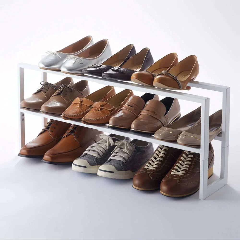 2 tiered extendable shoe rack