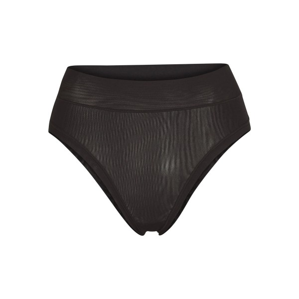 SKIMS Women's Summer Mesh Brief Panties - Black - Size 4XL