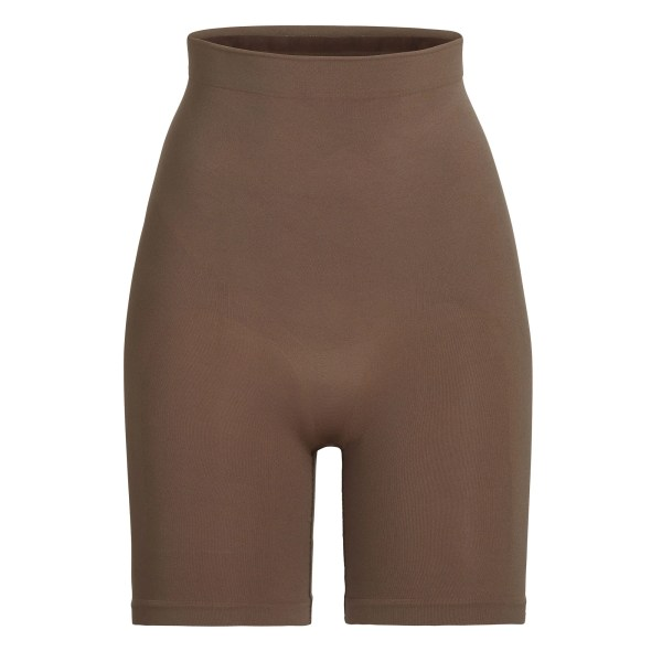 SKIMS Sculpting Short Above The Knee Shapewear - Brown - Size 4XL/5XL