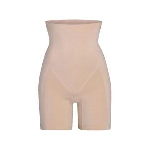 SKIMS High Waisted Bonded Short W. Open Guesst Shapewear - Nude - Size XXS