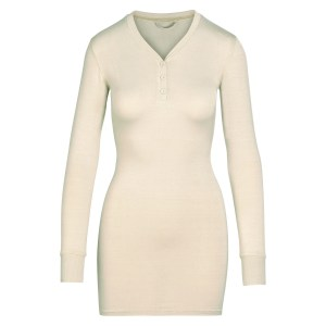 SKIMS Sleep Henley Dress - TAUPE - Size 4XL