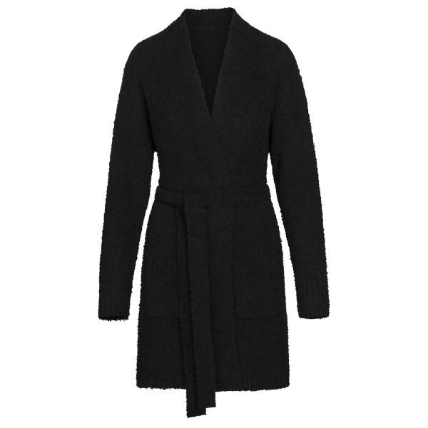 SKIMS Women's Cozy Knit Short Robe - Black - Size 4XL/5XL