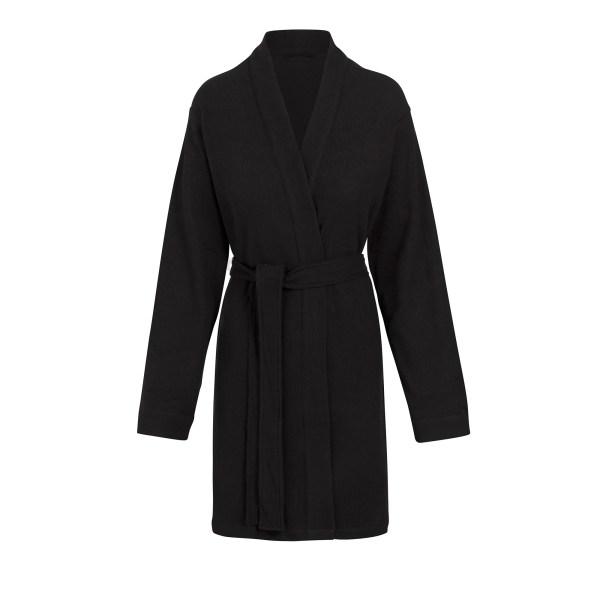 SKIMS Women's Waffle Robe - Black - Size 4XL