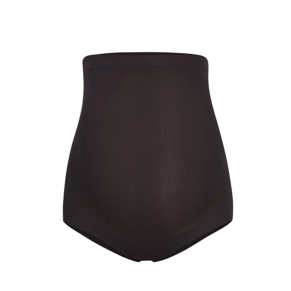 SKIMS Women's Maternity Sculpting High Waist Brief Panties - Black - Size 4XL/5XL