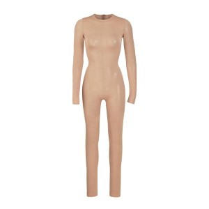 SKIMS Power Mesh Catsuit - Nude - Size 4XL