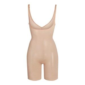 SKIMS Mesh Sheer Sculpt Bodysuit Shapewear - Nude - Size XXS