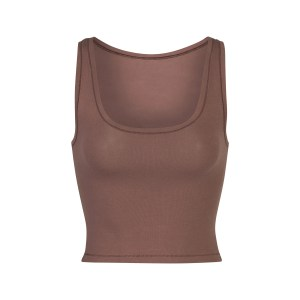 SKIMS Women's Cotton Jersey Tank - GARNET - Size 4XL