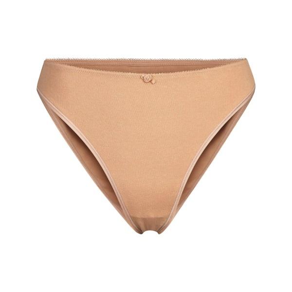 SKIMS Women's Pointelle Logo Brief Panties - Nude - Size 4XL