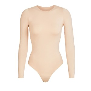 SKIMS Essential Crew Neck Long Sleeve Bodysuit - Nude - Size 4XL/5XL