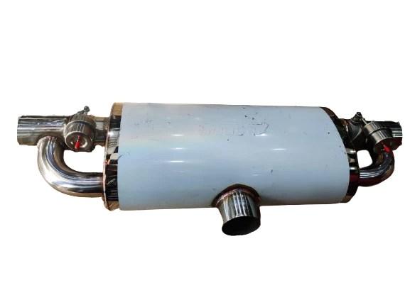bj 14588 electric valve muffler valve silencer 1 inlet 2 outlet electric exhaust cutout valve