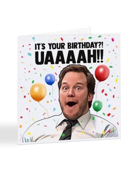 Andy Dwyer Meme Chris Pratt Parks And Recreation Birthday Greetings Everything Funky