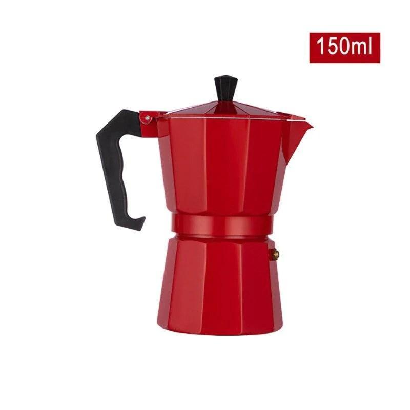 cafetiere italienne inox 4 tasses rouge