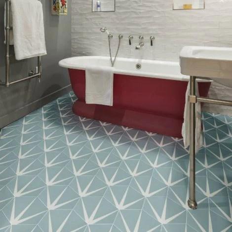hexagon floor tiles patterned floor