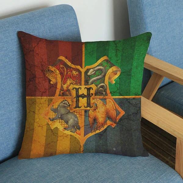 harry potter hogwarts cotton linen throw pillow case hogwarts decorati homeywow