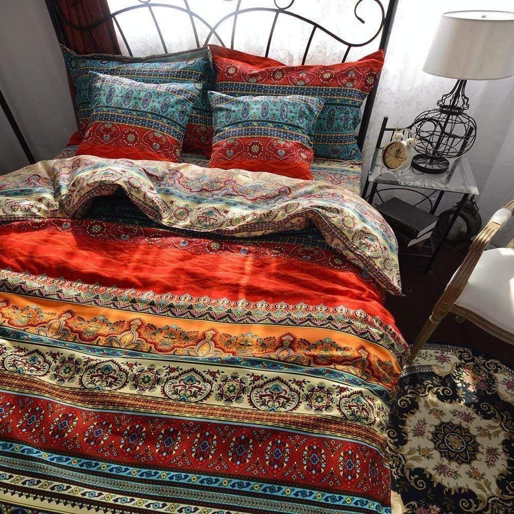 boho duvet cover and pillowcases