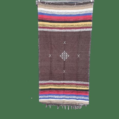 petit tapis berbere en coton marron 90x180cm