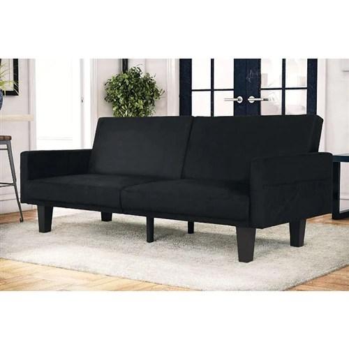 modern black microfiber upholstered