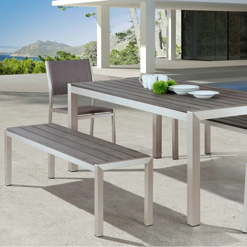 the minimalist 5 outdoor dining bench