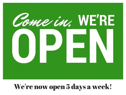 Were Open 5 Days A Week Now Nook And Cranny
