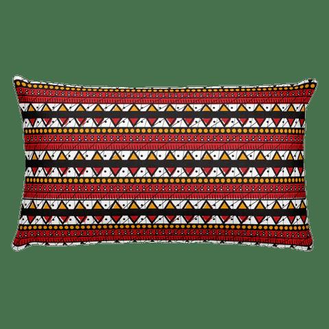kenya flag print rectangular pillow
