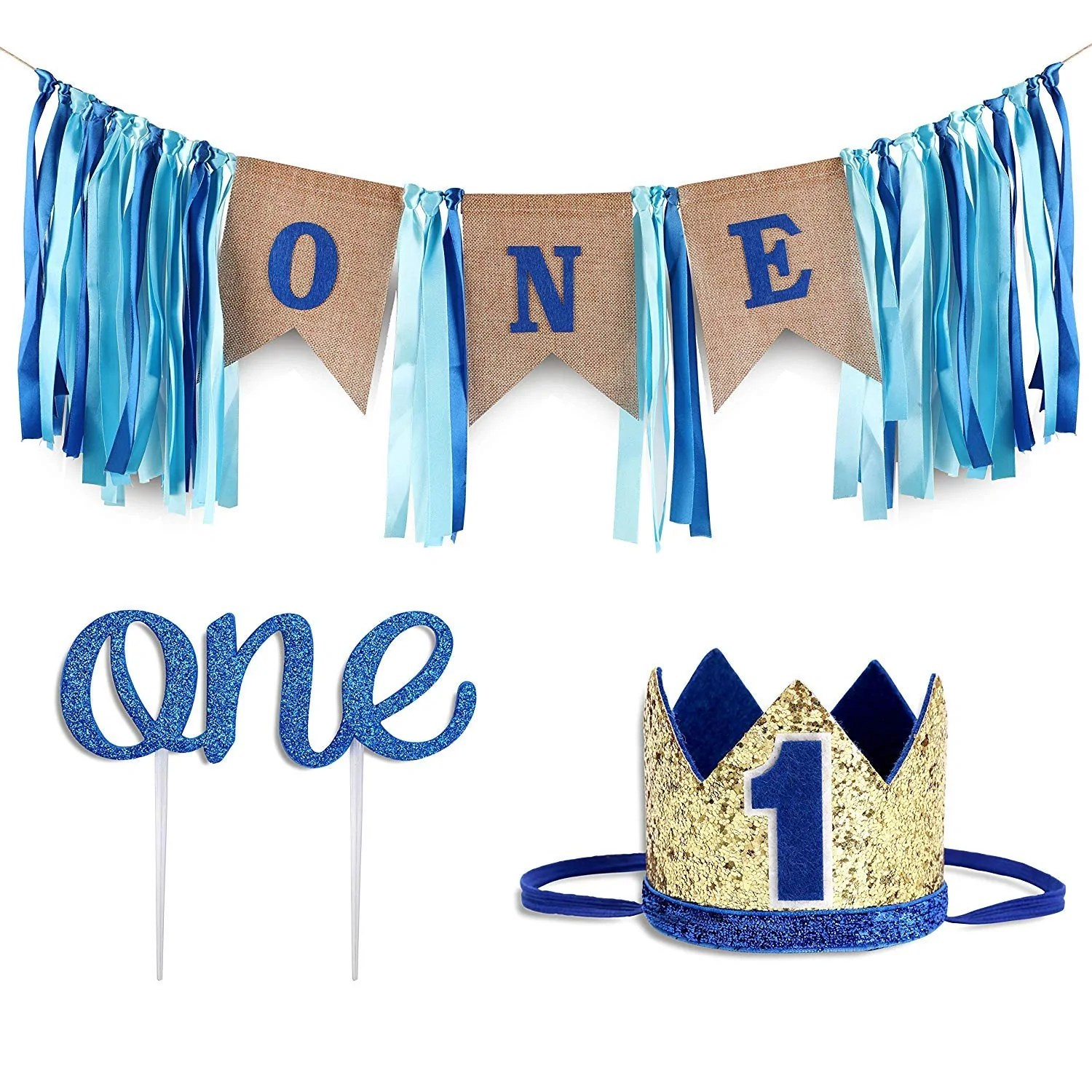 Baby 1st Birthday Boy Decorations With Crown Baby Boy First Birthday K R Celebrations