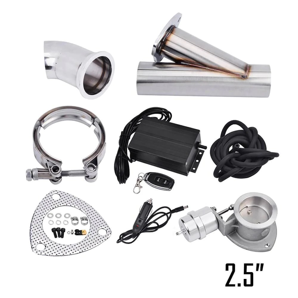 wowautopart 2 5 inch remote vacuum electric exhaust cutout kit