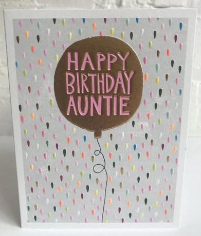 Aunt Birthday Cards Postmark