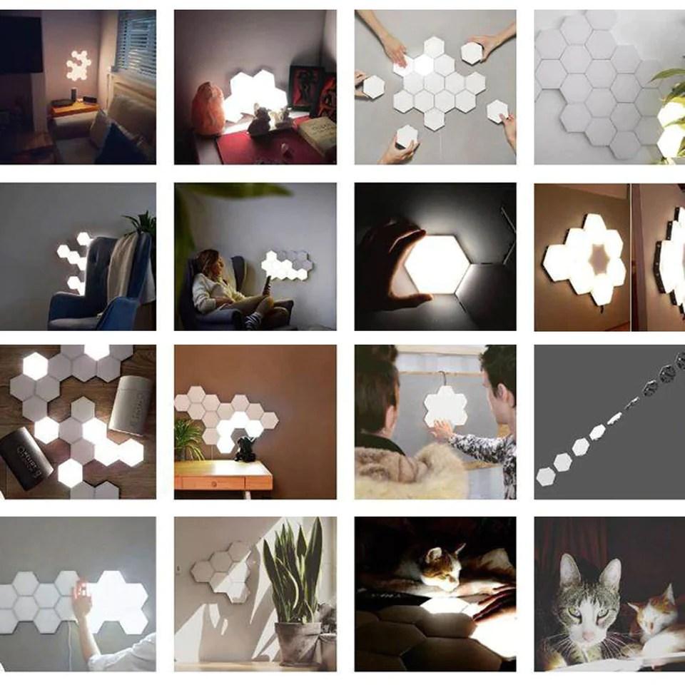 modular hexagonal lights