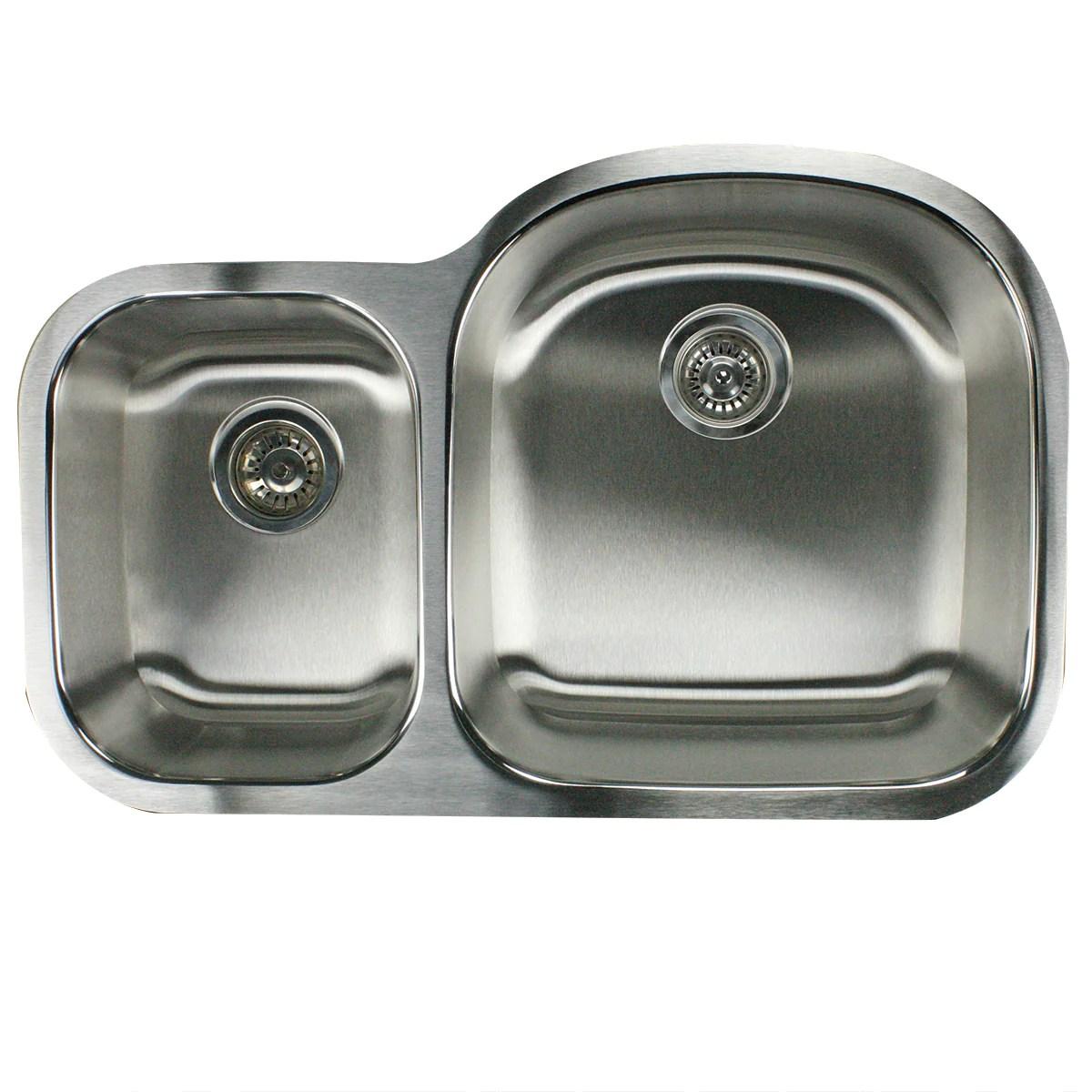 nantucket sinks ns7030 16 32 5 70 30 reverse double bowl undermount stainless steel kitchen sink 16 gauge