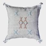 Moroccan Cactus Silk Sabra Pillow Boho 18x18 Light Blue Or Zon