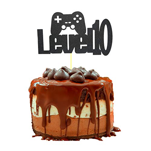 Video Game Level Up 10th Birthday Cake Topper Glittery Happy 10th Bir Toyscentral Europe
