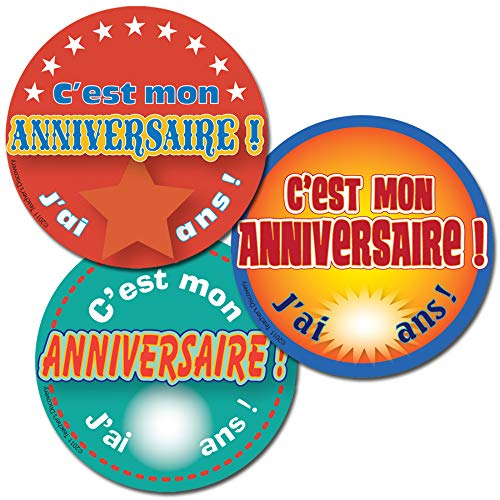 It S My Birthday French Stickers 90 Toyscentral Europe