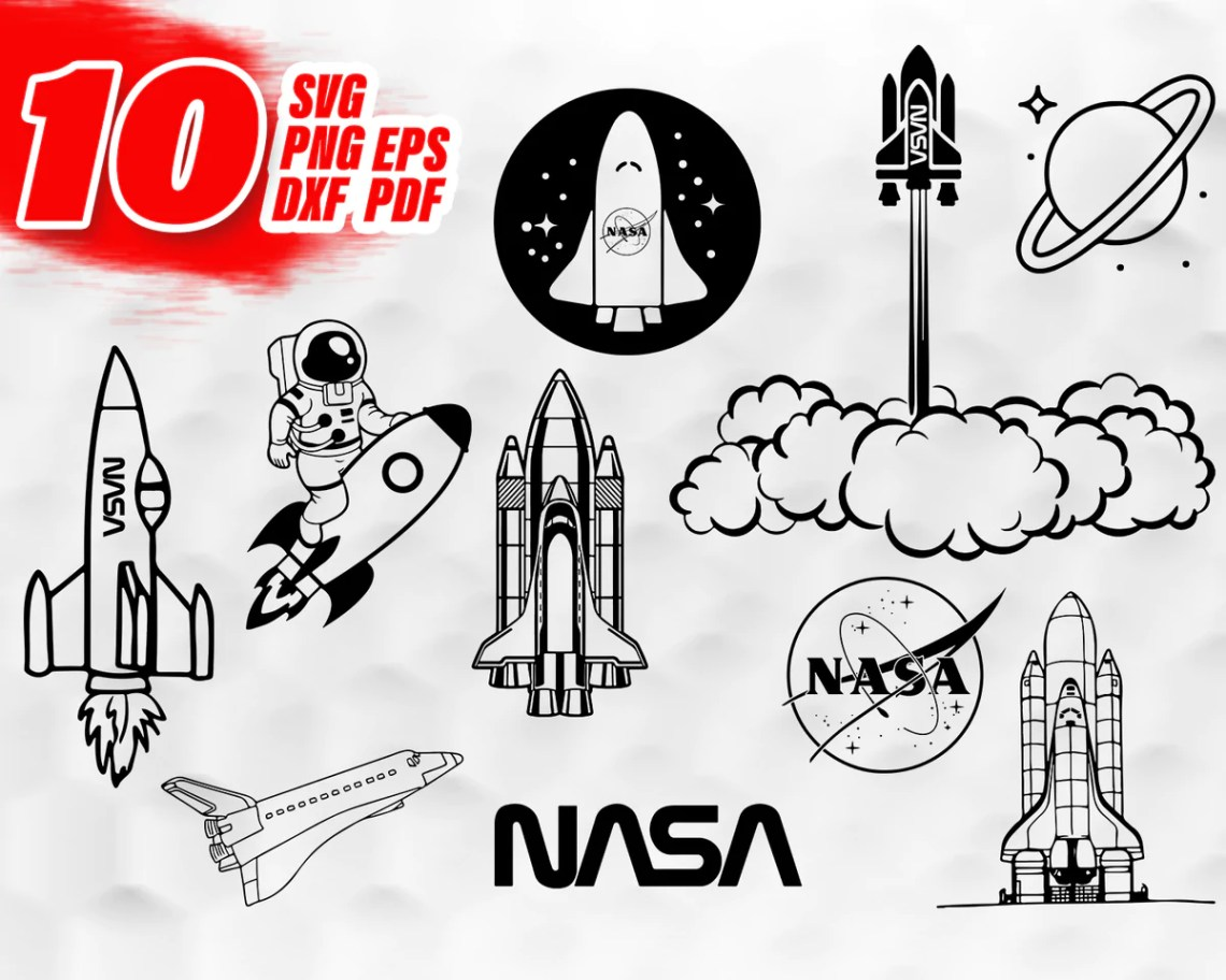Download NASA SVG, space svg, nasa clipart, svg files for cricut ...