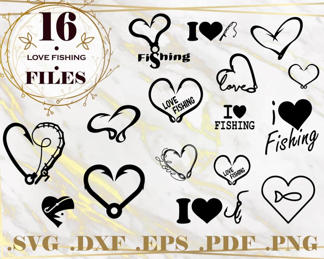 Download LOVE FISHING SVG, Fishing Pole Svg, Silhouette Fishing Svg ...