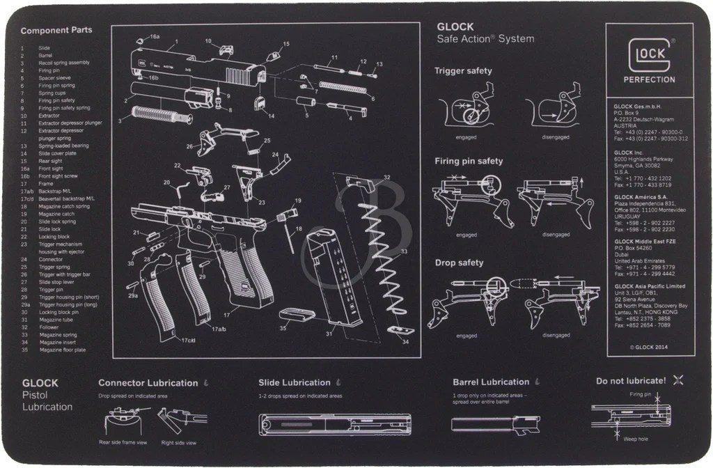 Glock Perfection Oem Bench Mat Cpwsa
