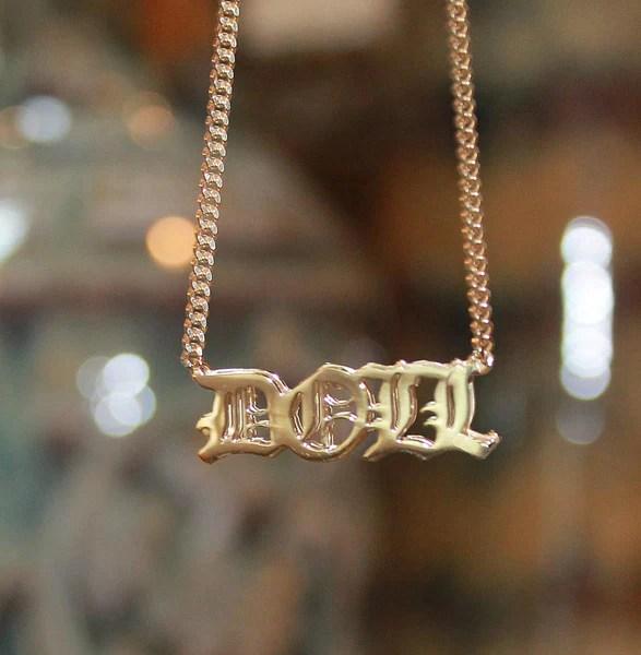 Personalized 3D Name Necklace Khloe Kourtney Kardashian Be Monogrammed