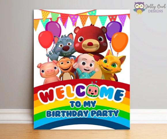 cocomelon birthday party digital