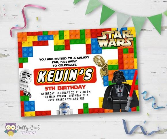 lego starwars birthday party invitation