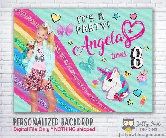 jojo siwa theme happy birthday