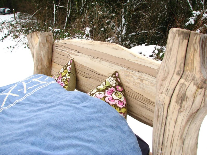 beech driftwood bed